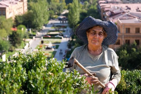 Laura: Gardner in Cascade park (Armenia, 2018)